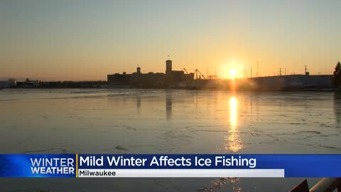 Fluctuating temperatures this winter to blame for late ice fishing...